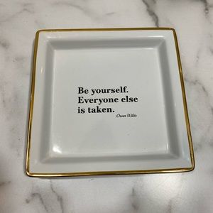 Pottery Barn Be Yourself Quote Tray (NWT)